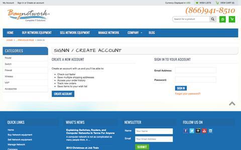 Screenshot of Login Page mybigcommerce.com - Baynetwork - Sign in - captured Sept. 18, 2014