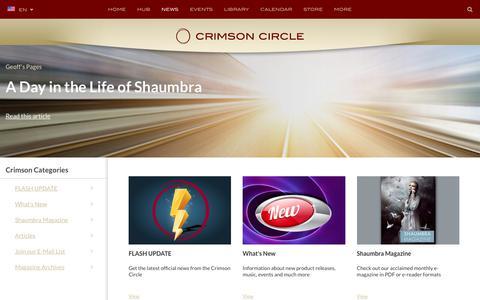 Screenshot of Press Page crimsoncircle.com - News - captured June 26, 2017
