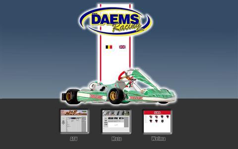 Screenshot of Home Page daemsracing.com - DAEMS RACING online - captured Oct. 5, 2014