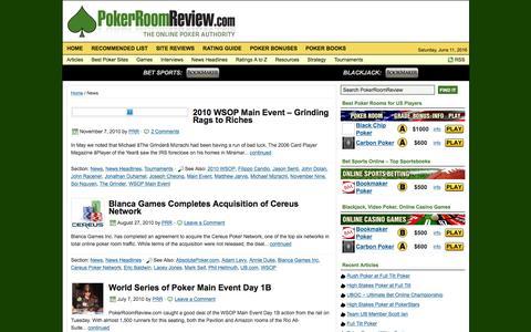 Screenshot of Press Page pokerroomreview.com - News :: Poker Room Review - captured June 11, 2016