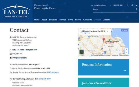 LAN-TEL Communications Inc. | Contact LAN-TEL