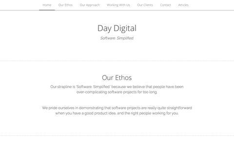 Screenshot of Home Page day-digital.com - Day Digital - captured June 3, 2017