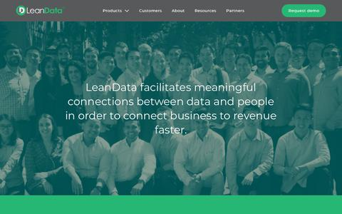 Screenshot of About Page leandatainc.com - About Us   LeanData - captured July 17, 2018