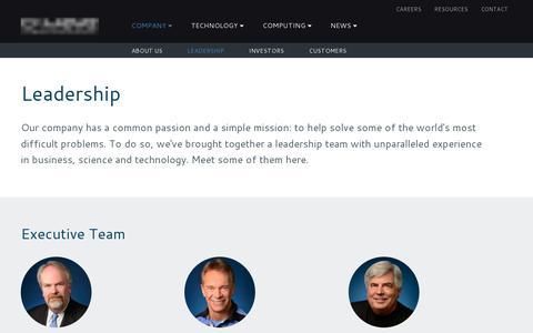 Screenshot of Team Page dwavesys.com - Leadership | D-Wave Systems - captured July 18, 2014