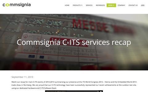 Screenshot of Case Studies Page commsignia.com - Case studies - Commsignia - captured Sept. 30, 2014