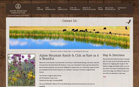 Screenshot of Contact Page alpinemountainranchsteamboat.com - Contact Us «  Alpine Mountain Ranch Steamboat - captured Nov. 2, 2014
