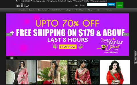 Screenshot of Home Page mirraw.com - Artificial Jewellery Online, Buy Fashion, Imitation Jewellery Online India - captured Oct. 14, 2015