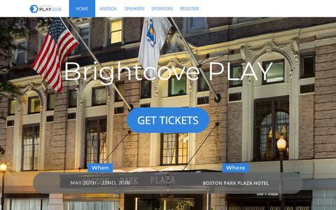 Screenshot of brightcove.com - Brightcove PLAY - captured Jan. 4, 2018