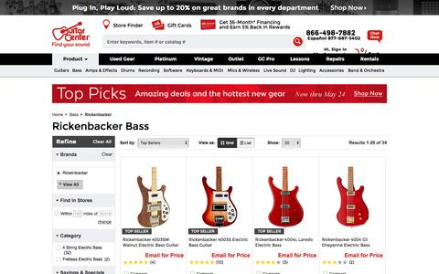 Rickenbacker Bass | Guitar Center