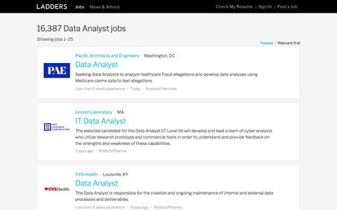 Data Analyst Jobs | Ladders