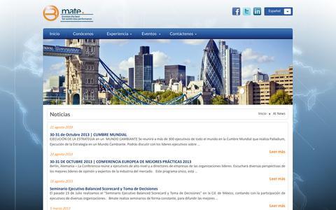 Screenshot of Press Page bmate.com.mx - At News | Bmate - captured Nov. 3, 2014