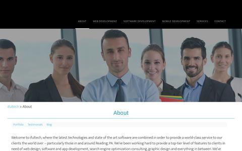 Screenshot of About Page ifultech.com - About - ifultech | Software Development, Web Design, Digital Marketing - captured July 10, 2017