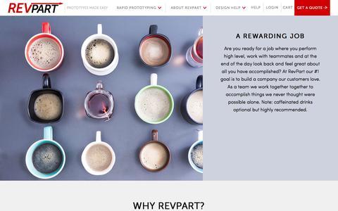 Screenshot of Jobs Page revpart.com - Jobs - - captured Oct. 9, 2014