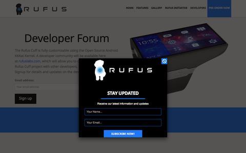 Screenshot of Developers Page rufuslabs.com - Developers - Rufus Labs - captured Sept. 30, 2014