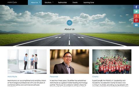 Screenshot of About Page matchbyte.com - Matchbyte.com - About Us - captured Oct. 27, 2015