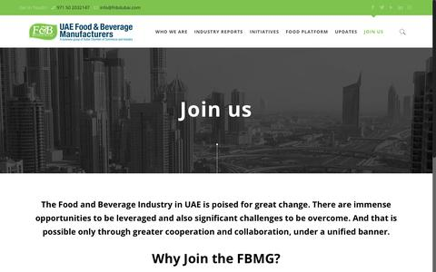 Screenshot of Signup Page fnbdubai.com - Food and Beverage Industry Manufacturing Group | Join us - captured Oct. 10, 2018