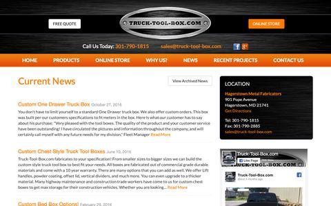 Screenshot of Press Page truck-tool-box.com captured Oct. 19, 2018