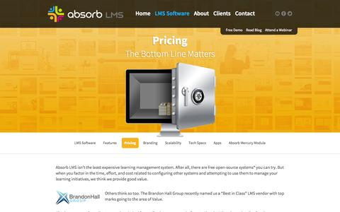 Screenshot of Pricing Page absorblms.com - Absorb LMS   Pricing - captured Sept. 22, 2014