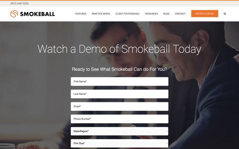 Request a Smokeball Demo - Smokeball Case Management Software
