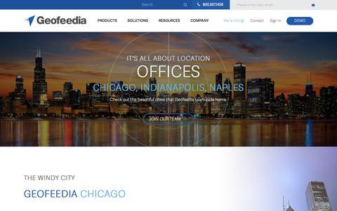 Screenshot of Locations Page geofeedia.com - Geofeeedia Office Locations - captured July 3, 2016