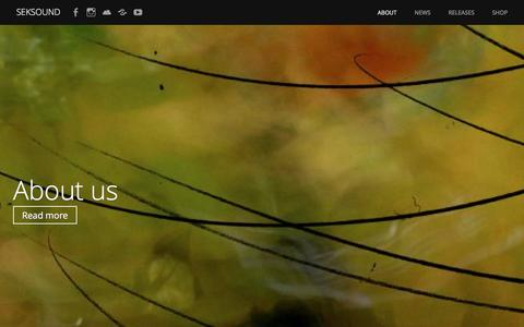 Screenshot of About Page wordpress.com - About us – Seksound - captured Feb. 2, 2017