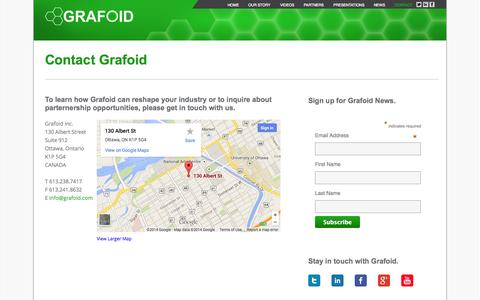 Screenshot of Contact Page grafoid.com - Contact | Grafoid - captured Sept. 16, 2014