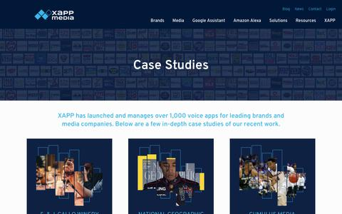 Screenshot of Case Studies Page xappmedia.com - Case Studies | XAPPmedia - captured Oct. 19, 2018