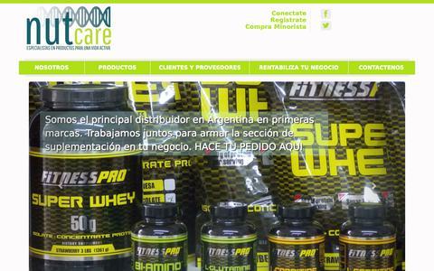 Screenshot of Home Page nutcare.com.ar - Nutcare - captured Sept. 30, 2014