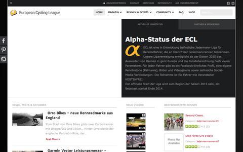 Screenshot of Team Page cycling-league.eu - European Cycling League - European Cycling League - captured Sept. 7, 2016