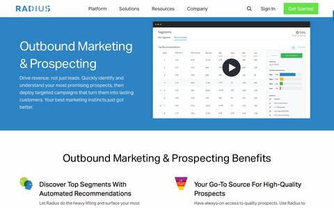 Predictive B2B Marketing Software & Analytics • Radius • Outbound Marketing & Prospecting