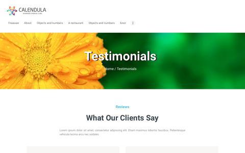 Screenshot of Testimonials Page calendula.hu - Testimonials – Calendula Clinic - captured June 22, 2019