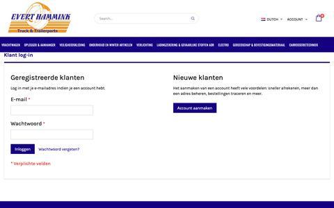 Screenshot of Login Page everthammink.nl - Klant log-in - captured Sept. 29, 2018