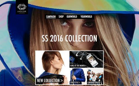 Screenshot of Home Page live-and-love.com - Live & Love  Homepage - captured Jan. 23, 2016