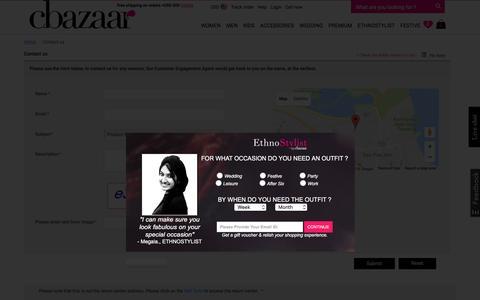 Screenshot of Contact Page cbazaar.com - Contact:Cbazaar - captured Aug. 27, 2016