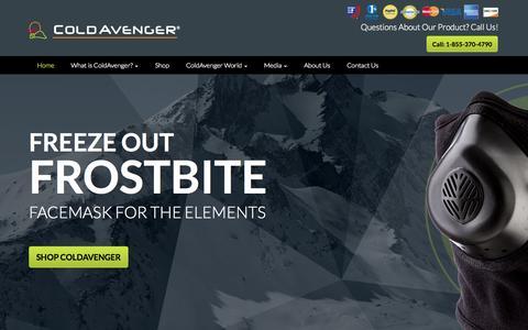 Screenshot of Home Page coldavenger.com - Cold Avenger | Our Mission - captured Oct. 3, 2014