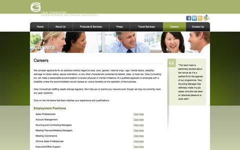Screenshot of Jobs Page gcimi.com - Careers - Gray Consulting, Inc. - captured Oct. 1, 2014