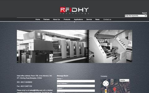 Screenshot of Contact Page rfidhy.com - Contact us | Huayuan RFID, The RFID manufacturer - captured Oct. 26, 2014