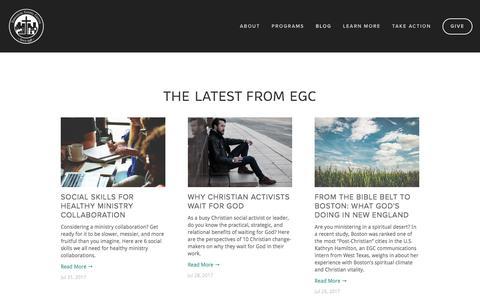 Screenshot of Blog egc.org - Blog — Emmanuel Gospel Center - captured Aug. 2, 2017