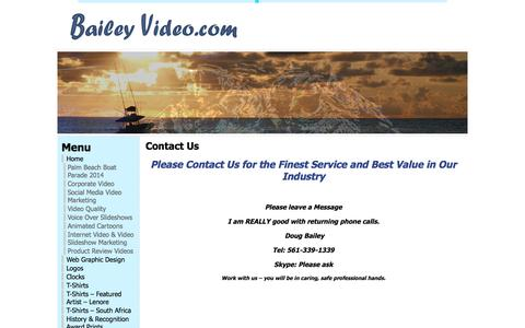 Screenshot of Contact Page baileyvideo.com - Contact Us « Bailey Video - captured Sept. 23, 2018