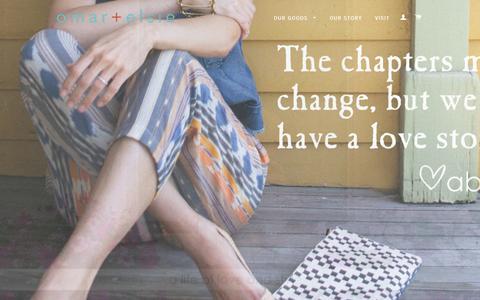 Screenshot of Home Page omarandelsie.com - A Life of Love and Style – omar + elsie - captured Sept. 16, 2015