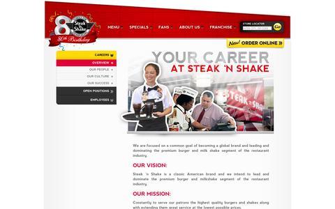 Screenshot of Jobs Page steaknshake.com - Careers   Steak 'n Shake - captured Sept. 22, 2014