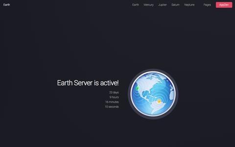 Screenshot of Home Page wkberg.nl - Earth Server by WKBERG AppDev - captured Dec. 19, 2016