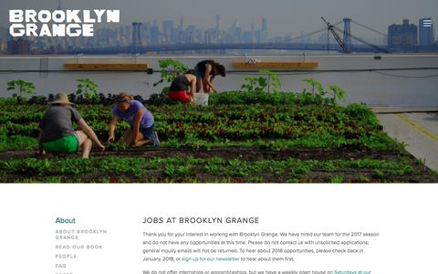Screenshot of Jobs Page brooklyngrangefarm.com - Jobs — Brooklyn Grange - captured June 28, 2017