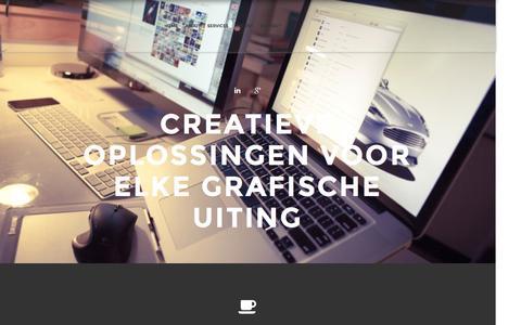 Screenshot of Home Page peterjjansengrafischontwerp.nl -   Peter J Jansen   Grafisch Ontwerp - captured Sept. 29, 2014