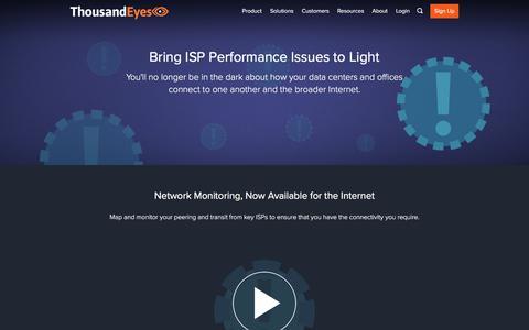 ISP Monitoring | ThousandEyes