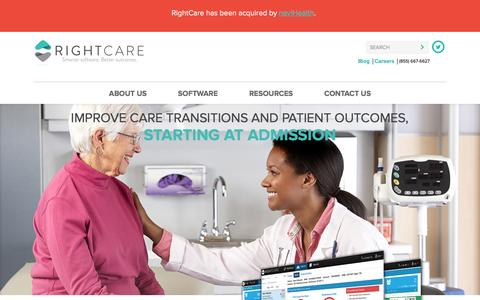 Screenshot of Home Page rightcaresolutions.com - Reduce Readmissions | RightCare Solutions - captured Feb. 17, 2016
