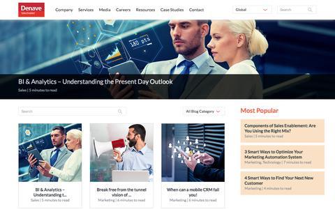 Screenshot of Blog denave.com - Denave's Sales Blog | Sales Enablement - captured Aug. 4, 2019