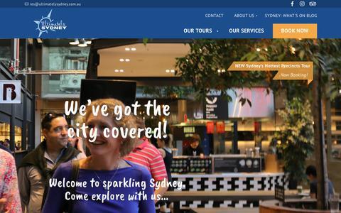 Screenshot of Home Page ultimatelysydney.com.au - Home   Ultimately Sydney - captured Nov. 13, 2017