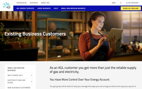 Energy Services for Existing Small and Medium Businesses | AGL