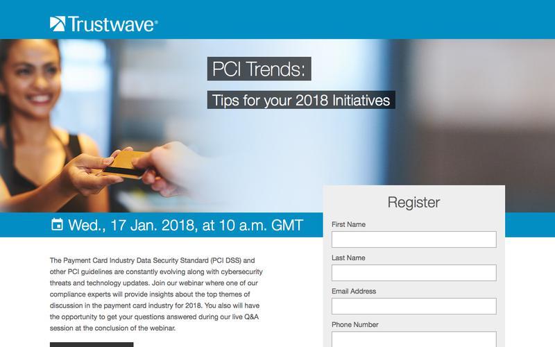 Trustwave Webinar: PCI Trends